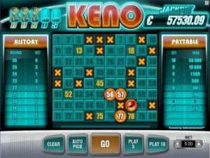 Keno fra Net Entertainment finner du blant annet hos Betsson Casino
