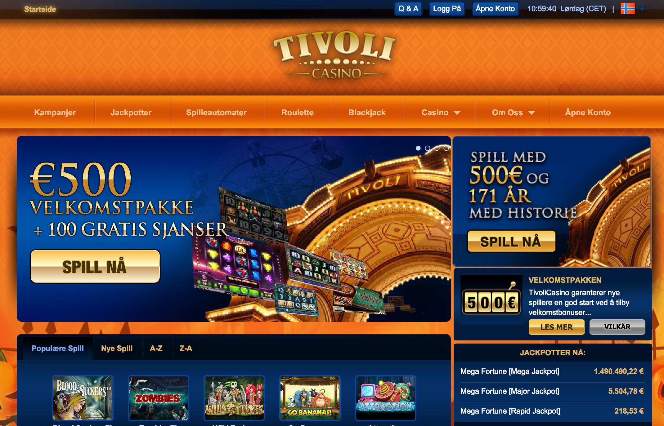 Tivoli Casino Velkomstbonus